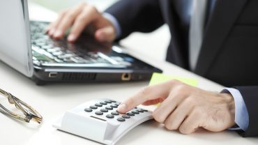 Financier working at bank